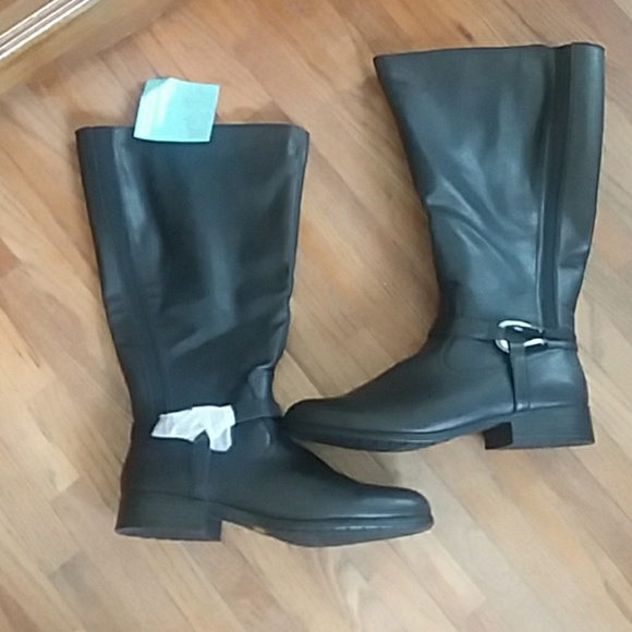 b7a4c097f38c NWT Black Lifestride size 11w wide calf Xena boots